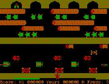 Frogger screenshot