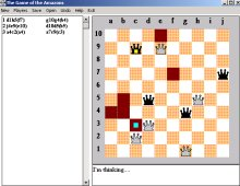 Game of the Amazons, The screenshot