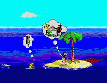 Johnny Castaway Screen Antics screenshot